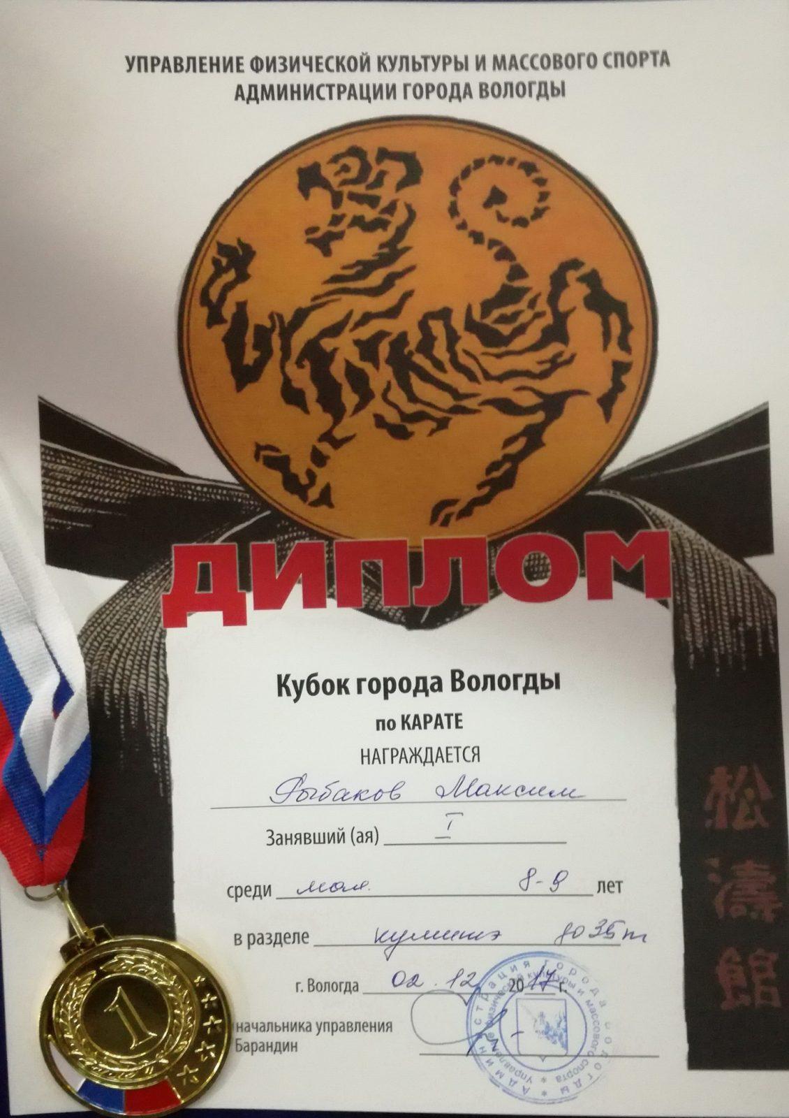 Каратэ. Кубок города