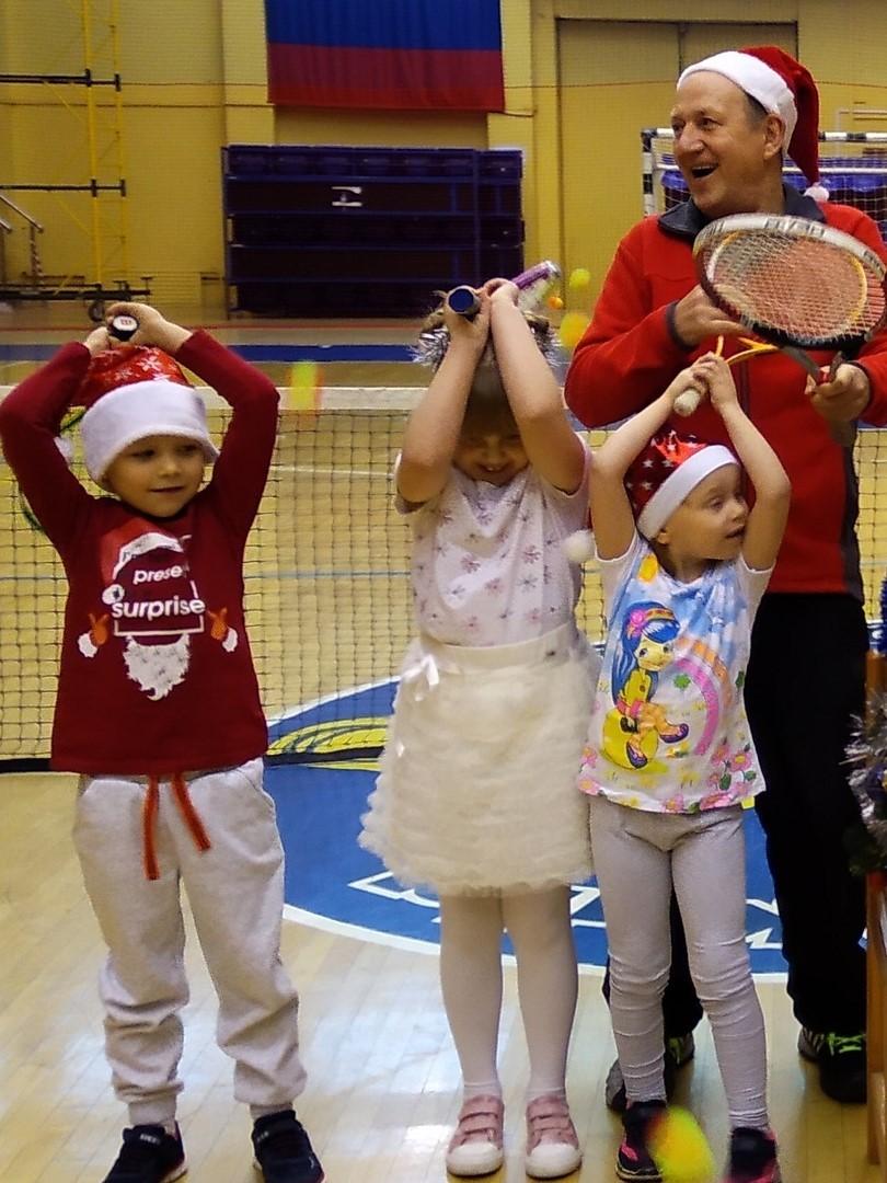 Предновогодние занятия по теннису